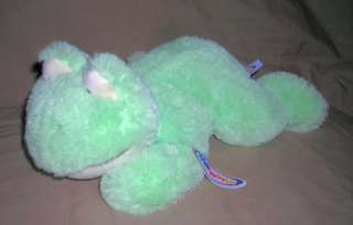 MARY MEYER plush CUDDLES CREAM PISTACHIO FROG LIME GREEN SIZE14INCH