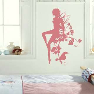 FAIRY TINKERBELL wall sticker kids vinyl stencil new art transfer ne19