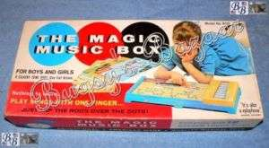 1950s Vintage MAGIC MUSIC BOX Plastic Injecto Corp Toy