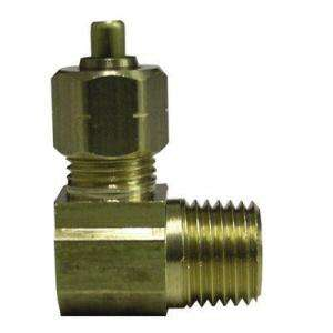 Watts Ander Lign 1/2 in. x 1/2 in. Brass 90 Degree Compression x MIP