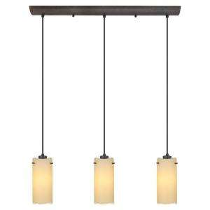 Light 47 1/4 in. Hanging Antique Brown Ceiling Island Multi Pendant