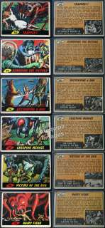 10+ Mars Attacks 1962 Topps trading cards #2,5,23,24,25,30,33,36,37,38