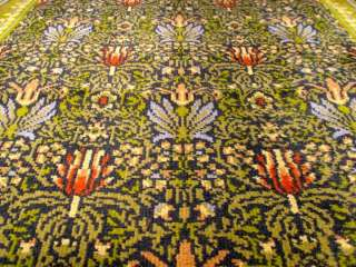 William Morris Tulip and Lily Axminster foyer runner rug.