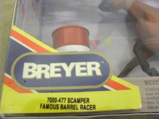 Breyer Horse Scamper Famous Barrel Racer New in Box