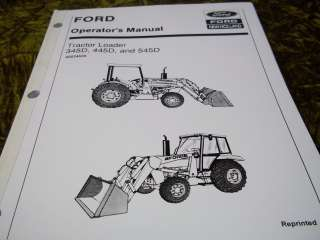 Ford 345D, 445D, & 545D Tractor Loader Operators Manual