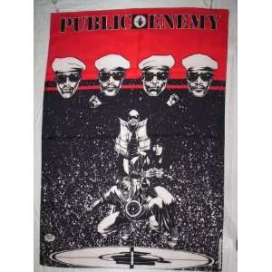 PUBLIC ENEMY 42x30 Inches Cloth Textile Fabric Poster