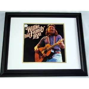 Willie Nelson Autographed Signed Framed Live Album & Proof