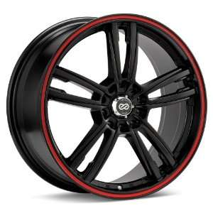 (Matte Black w/ Red Stripe) Wheels/Rims 5x100/114.3 (443 770 0245BK