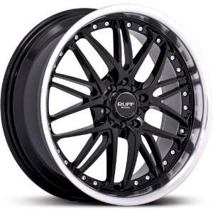 RUFF RACING WHE R350 BLACK/MACHINED 5X100/4.5 +42   18X7.5 Automotive