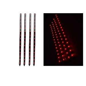 15 LED Red Strip Motorcycle Car Lights Waterproof Flexible Strip Light