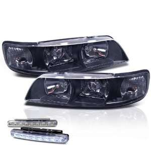Maxima Chrome 1pc Head Lights+ccorner+led Bumper Fog Lamp Pair Set