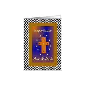 Happy Easter / Aunt & Uncle / Framed Cross Card Health