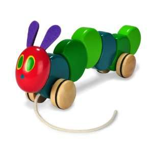 The Very Hungry Caterpillar Wood Pull Toy by Kids Preferred Baby