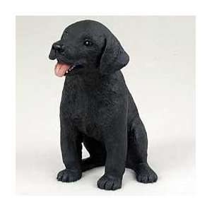 LABRADOR RETRIEVER Dog PUPPY Black sits Resin Figurine PDF24A