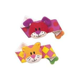 Puppy & Kitty Wrist Rattle Toys & Games
