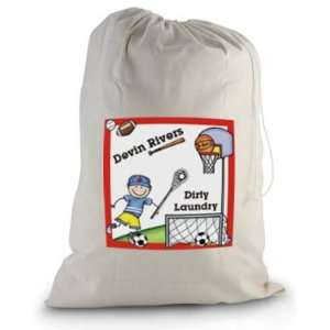 Pen At Hand Stick Figures   Laundry Bag (Sport   Boy)