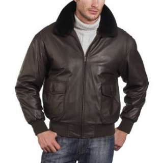 Navy Mens G 1 Goatskin Leather Flight Bomber Jacket Clothing