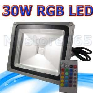 30w RGB LED Spotlight Wall Wash Lighting with Remote Controller (Led
