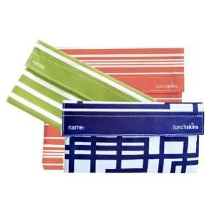 Two Snack Bags (Green Stripe & Navy Blue Circuit)