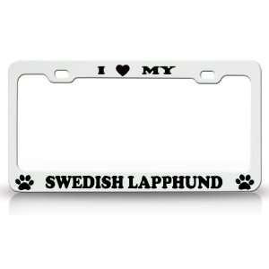 Animal High Quality STEEL /METAL Auto License Plate Frame, White/Black