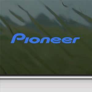 Pioneer Audio Blue Decal Car Truck Bumper Window Blue