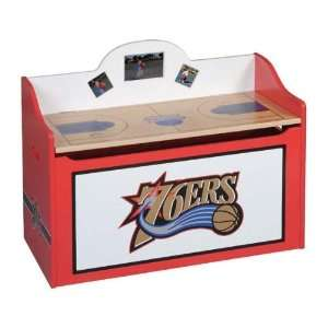 Philadelphia 76ers Wood Wooden Toy Box Chest