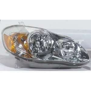 2003 08 TOYOTA MATRIX HEADLIGHT ASSEMBLY, PASSENGER SIDE
