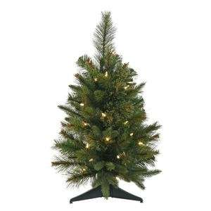 Pine Battery Operated 30 Warm White Italian LED Lights Christmas Tree