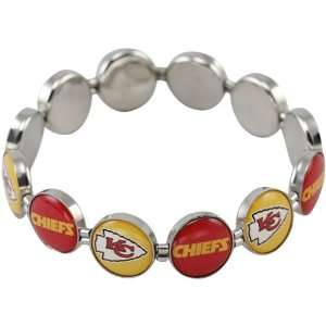NFL Kansas City Chiefs Enamel Charm Beaded Bracelet