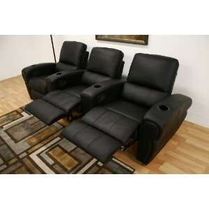 Sundance Black Home Theater Seating   Row of 3