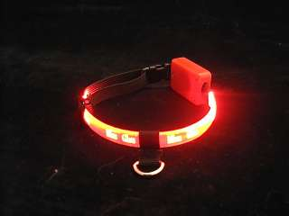 LIGHTWEIGHT, WATER RESISTANT, LED LIGHTED DOG & CAT COLLAR   GCC 222