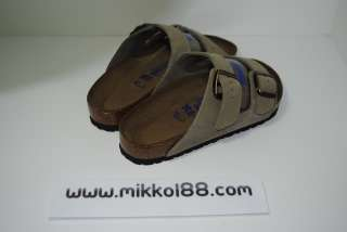 Birkenstock Arizona Suede Soft Footbed Taupe Color NEW