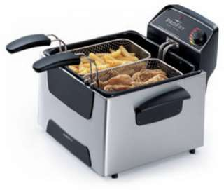 120 Volt Stainless Steel Dual Basket Deep Fryer 075741054667