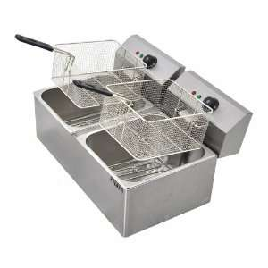 Commercial dual electric deep fryer