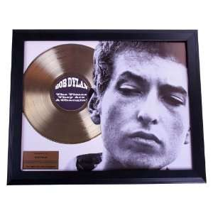 Bob Dylan Times Are A Changin Gold Record Award non Riaa