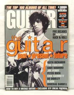 GUITAR WORLD MAGAZINE KEITH RICHARDS JOE PERRY SLASH DAVE NAVARRO JOE
