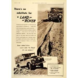 1955 Ad Land Rover Four Wheel Drive Vehicle Dirt Road